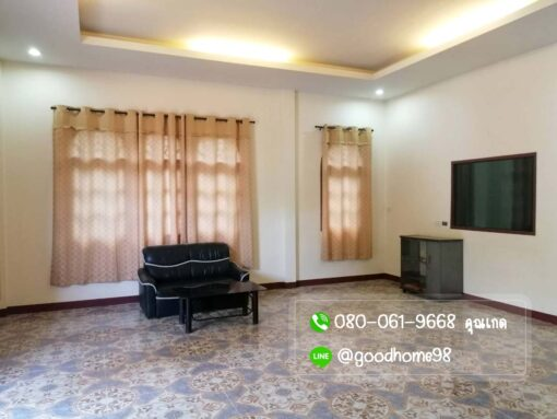 ขายบ้านพร้อมที่ดิน สุพรรณบุรี 300 ตรว. บ้านเดี่ยวติดถนน บ้านพร้อมอยู่ ติดผ้าม่านเรียบร้อย