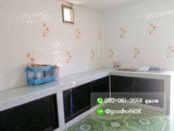 ขายบ้านพร้อมที่ดิน สุพรรณบุรี 300 ตรว. บ้านเดี่ยวมือสอง ห้องครัว เคาเตอร์ครัว ซิ้งค์ล้างจาน