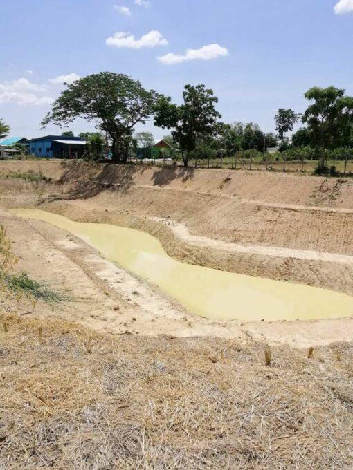 ขายบ้านพร้อมที่ดิน สุพรรณบุรี ขุดบ่อเก็บน้ำเพื่อเกษตรกรรม
