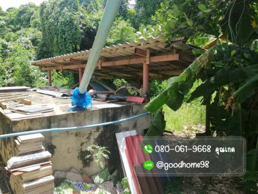 ขายบ้านพร้อมที่ดิน สุพรรณบุรี 300 ตรว. บ้านเดี่ยวมือสอง ที่ดินถมแล้ว แท๊งค์น้ำ