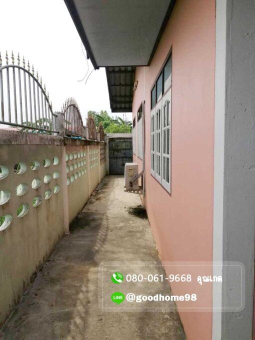 ขายบ้านพร้อมที่ดิน สุพรรณบุรี อู่ทอง 194.5 ตรว. ใกล้ถนนมาลัยแมน มีรั้วล้อมรอบบ้าน