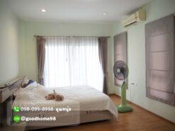 เดอะบาลานซ์ ศาลายา บ้านเดี่ยวมือสอง ห้องนอน Master Bedroom พร้อมแอร์