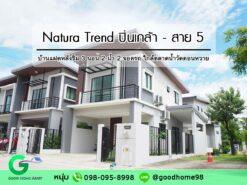 Natura Trend ปิ่นเกล้า-สาย 5 บ้านแฝดหลังริม บ้านมือสอง สามพราน